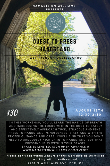 Quest to Press Handstand